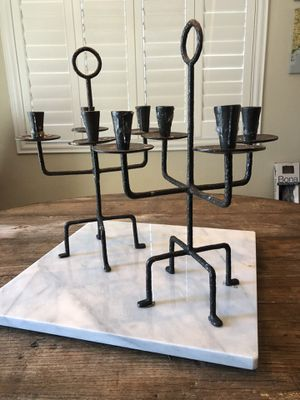 (2) Pottery Barn Candelabras Excellent Condition candle holders for Sale in San Diego, CA