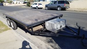 8 x 14 foot deck over trailer, flat bed trailer, utility trailer, atv can am 4 seater trailer, equipment trailer for Sale in Stanton, CA