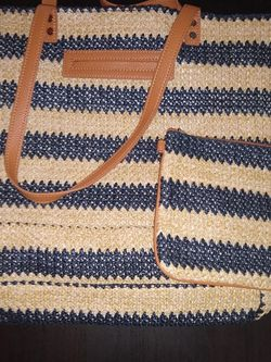 New 31 Straw Tote And Mini Rubie Zipper Pouch for Sale in Gig Harbor,  WA