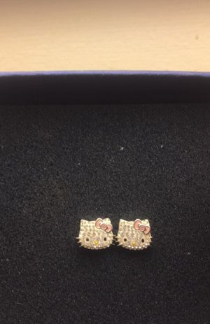 real Diamond hello kitty earrings 💖 for Sale in Peabody, MA