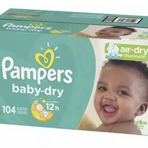 Pampers Baby Dry Diapers, Size 3, 104 Count, Super Pack for Sale in Little Elm, TX