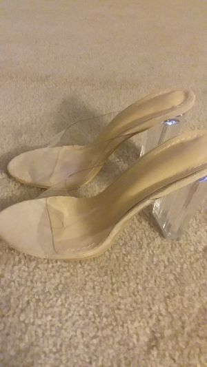 Crystal Clear High Heel Shoes BRAND NEW! L@@K for Sale in Chevy Chase, MD