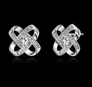 Love Knot Twisted Silver Earrings for Sale in Wichita, KS