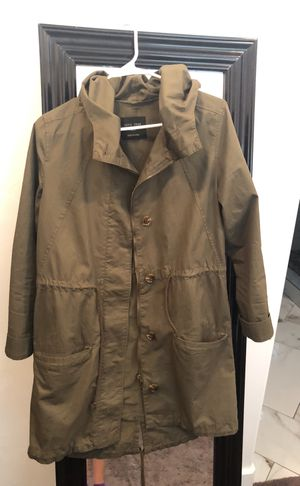 Green jacket with hoodies! for Sale in Riverton, UT