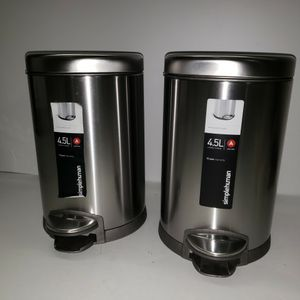 Simplehuman 4.5 L Round Step Trash Can 2 Pack for Sale in Miami, FL