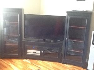 TV stand and cabinets fits 55 inch for Sale in Concord, NC