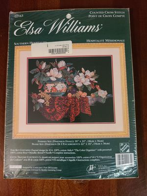 Elsa Williams Southern Hospitality counted cross stitch kit for Sale in Lemoore, CA