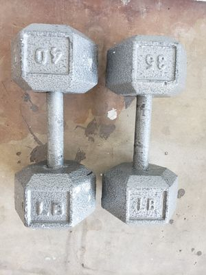 35 and 40 lb Iron hex dumbbells for Sale in Phoenix, AZ