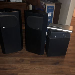BLACK BOSE HOME SPEAKERS for Sale in Hanford, CA