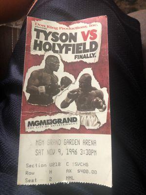 Tyson vs Holyfield and Holyfield vs Moorer ticket stubs for Sale in Oak Ridge, NJ