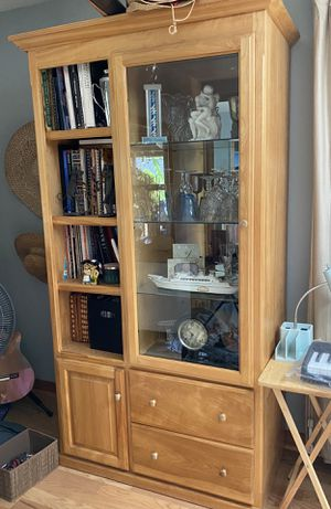Two solid birch wood cabinets for Sale in Citrus Heights, CA