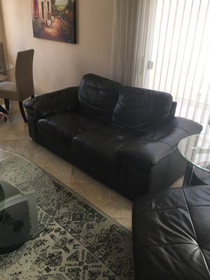 Leather couch and loveseat for Sale in Mission Viejo, CA