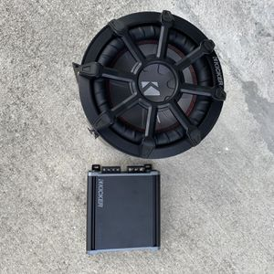 Kicker 6 Inch Subwoofer Bass Tube With Kicker 400 Watt Amp Brand New for Sale in Miami, FL