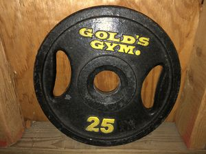 Gold's Gym 2x25 lbs Olympic Weight Plates. for Sale in Chicago, IL