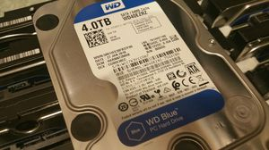For desktop computers: 4TB drives, Western Digital, Pulled from new machines. Great for gaming or video recording for Sale in Dallas, TX