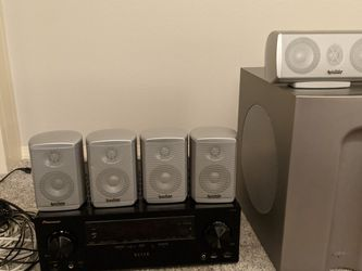 Home Theater Pioneer VSX-43 Receiver, Infinity TSS-750 5.1 Surround Speakers w/ Subwoofer for Sale in Beaverton,  OR