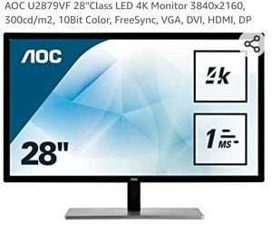 Aoc 4k Monitor for Sale in Spring Valley, CA