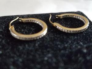 DIAMOND Small Hoop Earrings for Sale in Lake Worth, FL