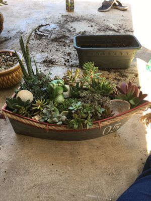 Succulent boat planter pot for Sale in Fresno, CA