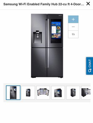 Samsung Wi-Fi Enabled Family Hub 22-cu ft 4-Door Counter-Depth French Door Refrigerator with Ice Maker (Fingerprint-Resistant Black Stainless Steel) for Sale in Atlanta, GA