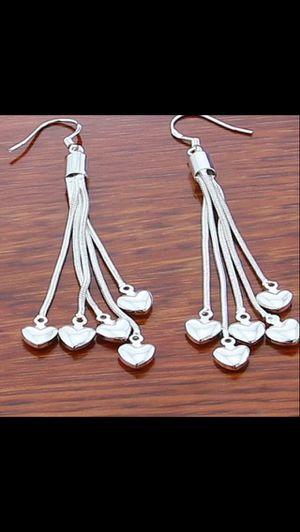 """2"""" long sterling silver earrings for Sale in Saint Cloud, FL"""