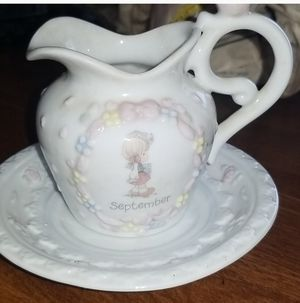 12 Precious moments collectable cup and saucer set for Sale in Savannah, GA