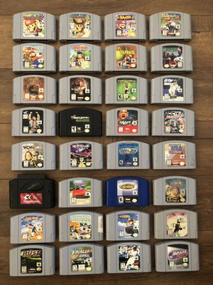 AUTHENTIC NINTENDO 64 VIDEO GAMES N64 MARIO for Sale in San Diego, CA