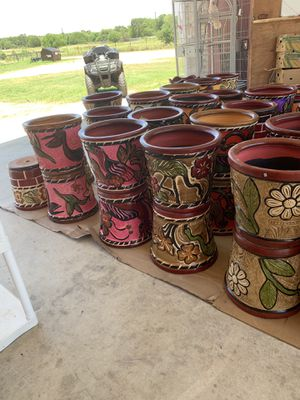 Pottery and flower pots the pair of 2/$50 willing to work with price for Sale in Somerset, TX