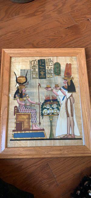 Framed hand painted Egyptian art for Sale in Rockville, MD