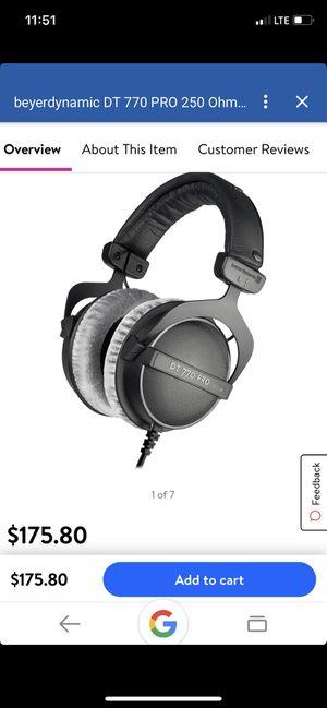 BEYERDYNAMIC DT 770 PRO 250 Ohm Headphones for Sale in Bonney Lake, WA