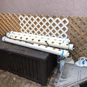 Hydroponic Grow Tubes. 5 Ft Lengths X4 for Sale in Tampa, FL