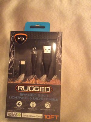 I-Hip Rugged Braided 2 IN 1 Lighting Cable -10ft for Sale in Hyattsville, MD