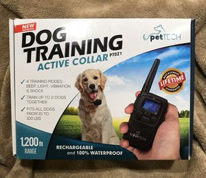 Pet Tech 4-Mode Dog Training Collar Fits Dogs from 10 to 100lbs for Sale in Rosemead, CA