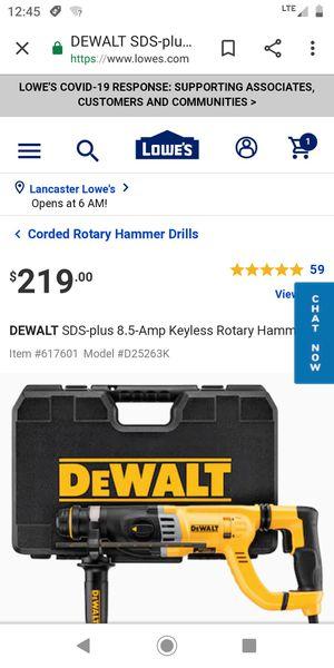 DeWalt Rotary Hammer for Sale in Palmdale, CA