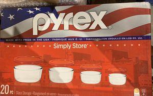 Pyrex Round Glass Storage 20 Piece Set NEW for Sale in Boynton Beach, FL