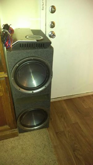 "Bocinas KENWOOD 12"" amplificador SONY 1200 wats precio $230.00 for Sale in US"