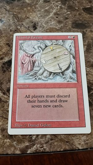 Magic the gathering card, wheel of fortune for Sale in Pataskala, OH