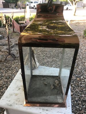 Copper and Glass large candle lantern or terrarium for Sale in Chandler, AZ