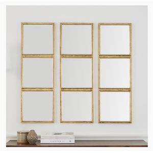 Rivet 3x3 Tile Mirror Decor, 36 Inch Height, Gold Finish for Sale in Baltimore, MD