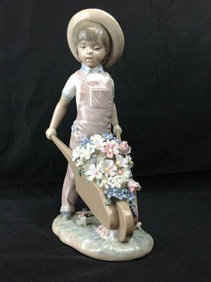 Rare LLADRO Wheelbarrow with Flowers Figurine #1283 for Sale in Largo, FL