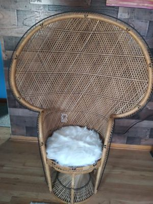 Wicker peacock chair for Sale in Erie, PA