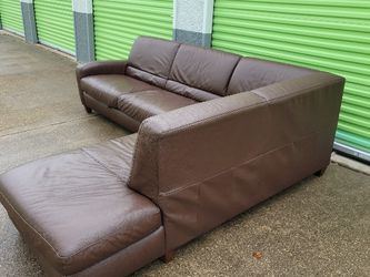 Brown Leather Sectional for Sale in Georgetown,  TX