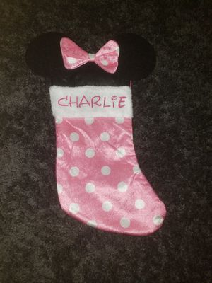 Personalized minnie mouse stocking for Sale in Rancho Cucamonga, CA