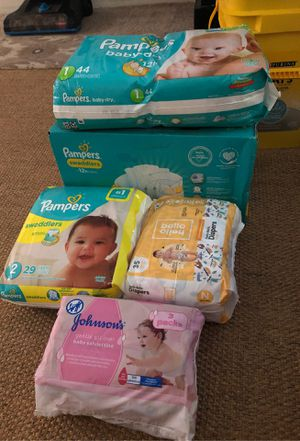Pampers and wipes for Sale in Escondido, CA