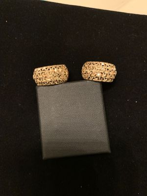 14K Gold, Diamond cut earrings. Awesome! for Sale in Silver Spring, MD