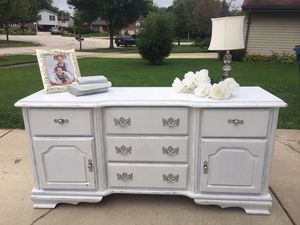 Shabby chic dresser/baby changing table/buffet/TV Console for Sale in Bloomingdale, IL