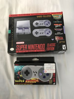 Super Nintendo Classic & wireless controller for Sale in Brick, NJ