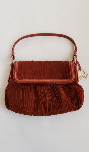 Authentic Fendi Suede Leather Shoulder Bag for Sale in Garden Grove, CA