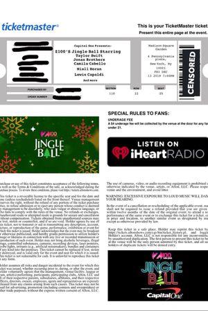 Z100's Jingle Ball w/ Taylor Swift, Jonas Brothers, Camila Cabello, etc for Sale in New York, NY
