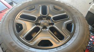 4 Jeep Wheels Black $350 for Sale in Hartford, CT